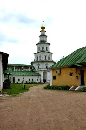 new entry: Entry tower of Monastery in New Jerusalem, near Moscow, Russia Stock Photo