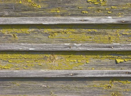 Fragment of old chipped wooden background texture photo