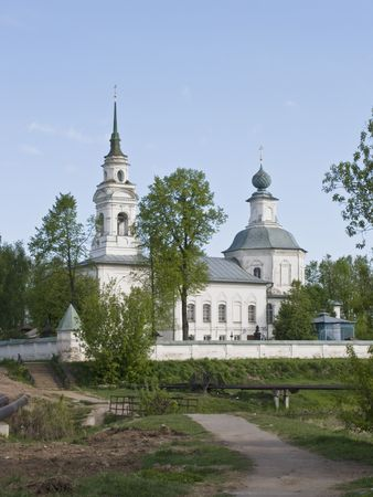 View of ancient church in Kostroma, Russia
