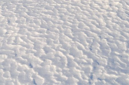 Close up of wavy snow surface texture