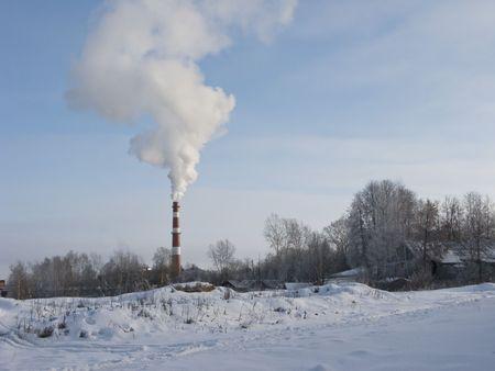 industrial landscape: Paesaggio industriale in giornata di sole invernale Archivio Fotografico