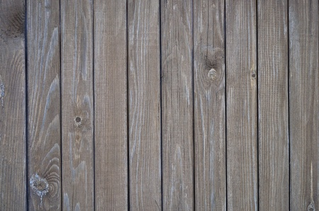 Fragment of natural brown wooden boards background Stock Photo