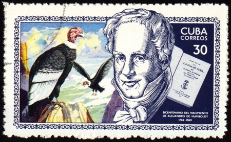 CUBA - CIRCA 1969: stamp printed in Cuba, shows German scientist and traveller Alexander von Humboldt (1769-1859), circa 1969 Stock Photo