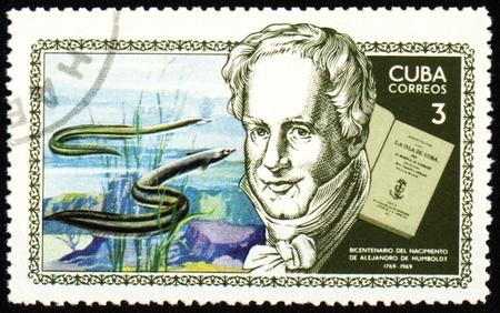 CUBA - CIRCA 1969: stamp printed in Cuba, shows German scientist and traveller Alexander von Humboldt (1769-1859), circa 1969 Standard-Bild