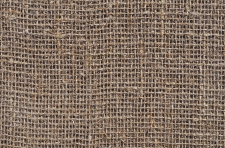 Fragment of rustic sack texture background photo