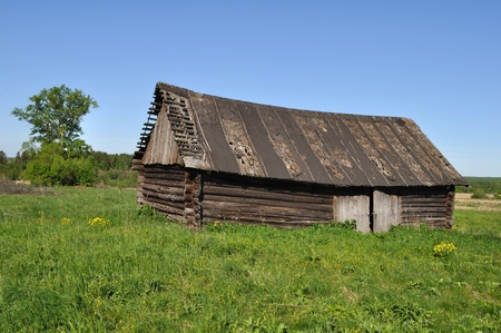 Country landscape with old wooden barn Stock Photo - 9674764