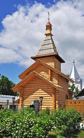 Wooden church in Holy Trinity Monastery of Murom city, Vladimir region, Russia photo
