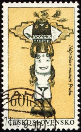 CZECHOSLOVAKIA - CIRCA 1966: stamp printed in Czechoslovakia, shows native American craftsmanship, circa 1966 photo