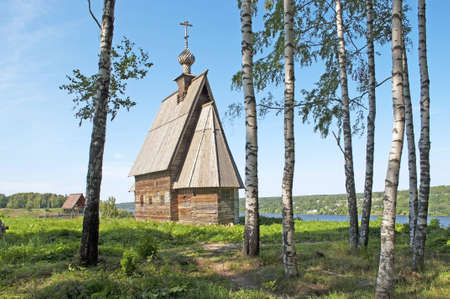 Wooden church of the Resurrection of Christ on the Levitan Stock Photo - 12710691