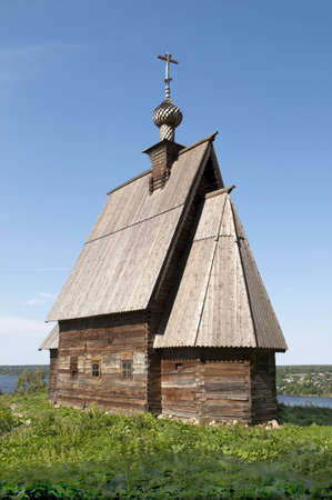 Wooden church of the Resurrection of Christ on the Levitan Stock Photo - 12710694