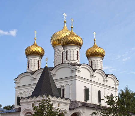 Cupola of Trinity Cathedral in Ipatiev monastery of Kostroma, Russia Stock Photo