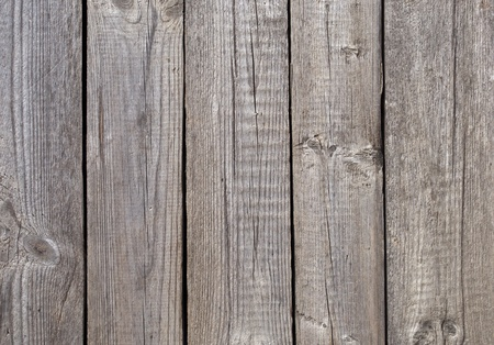 Fragment of old gray wooden boards background Stock Photo