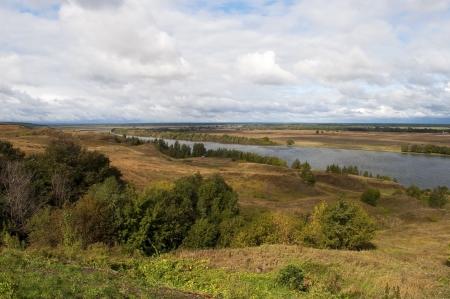 esenin: Oka River near the village of Konstantinovo, Ryazan region, Russia (the home of russian poet Sergei Esenin) Stock Photo