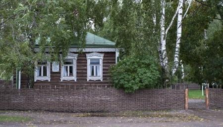 esenin: The house-museum of Russian poet Sergei Esenin in Konstantinovo village, Russia Stock Photo