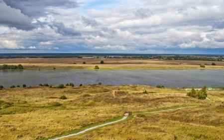 oka: Oka River by the village of Konstantinovo, Russia (the home of russian poet Sergei Esenin)