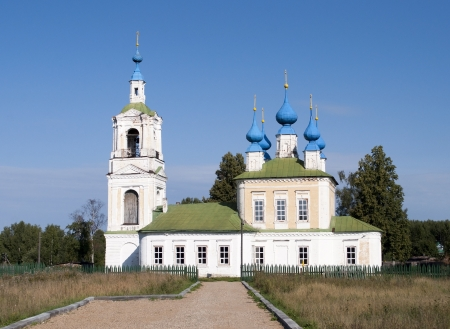 Church of Elijah The Prophet in Bibirevo village, Ivanovo region, Russia Stock Photo - 15068878