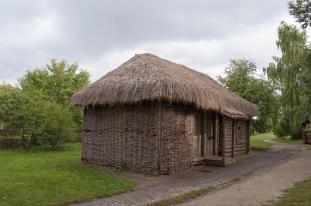 esenin: Outhouse in the Estate of parents of Russian poet Sergei Yesenin in Konstantinovo village, Ryazan region Editorial