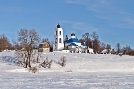 Church of the Holy Virgin  1741  in village Davydov, Vladimir region, Russia photo