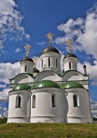spassky: Medieval Transfiguration Cathedral  16th century  in the Spassky Monastery, Murom city, Vladimir region, Russia Stock Photo