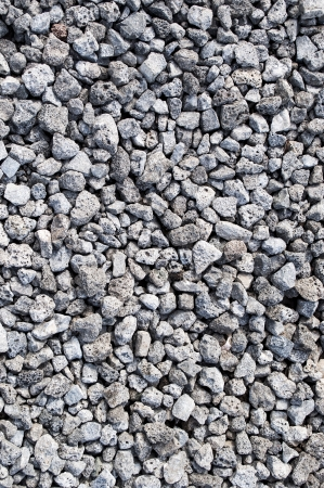 clinker: Close up of gray gravel background texture Stock Photo