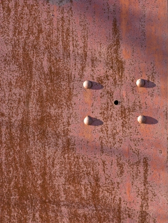 dissimilar: Close up of old rusty brown steel surface Stock Photo
