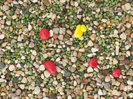Color gravel background texture photo