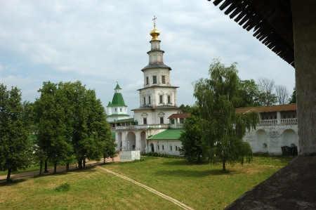 Walls and towers of medieval monastery (1658-1685) in New Jerusalem, Russia