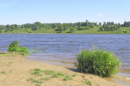 the volga river: Bank of the Volga river near the Tutaev town, Russia