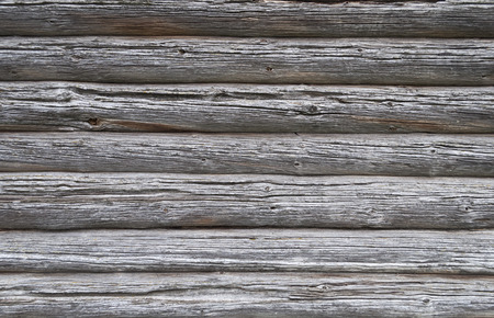 Fragment of wooden wall of ancient country church photo