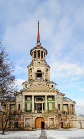 boris: Belfry of Boris and Gleb Monastery in Torzhok, Tver Region, Russia, winter time