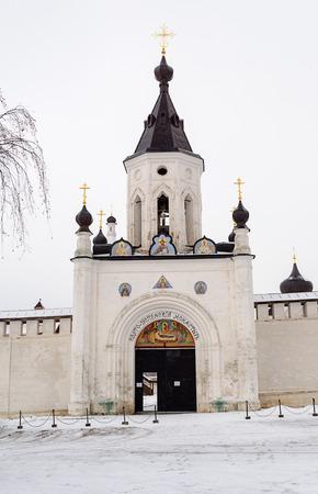 assumption: Holy Assumption Monastery in Staritsa, Gate Chapel (1885), winter time