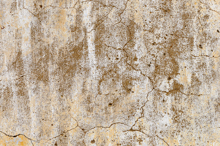 hormig�n: Texture of old weathered cracked white plaster wall Foto de archivo
