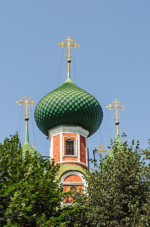 alexander nevsky: Dome of the church of Alexander Nevsky in Pereslavl Zalessky, Golden Ring of Russia Stock Photo