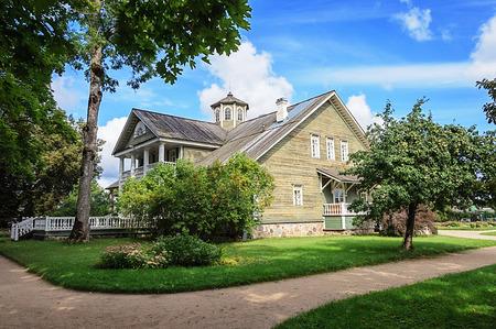 gory: Manor house of P.A.Gannibal in the village Petrovskoye, Pushkinskiye Gory Reserve, Russia