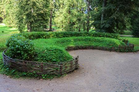 gory: Sod sofa in old park of the village Mikhailovskoye, Pushkinskiye Gory Reserve, Russia
