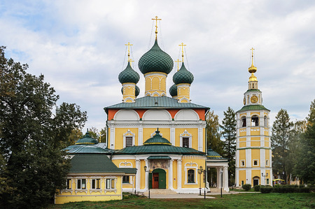 uglich russia: Spaso-Preobrazhensky (Transfiguration) Cathedral with bell tower in Uglich, Russia