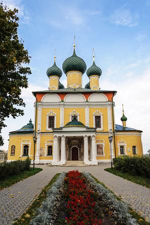uglich russia: View of Spaso-Preobrazhensky (Transfiguration) Cathedral in Uglich Kremlin, Yaroslavl region, Russia