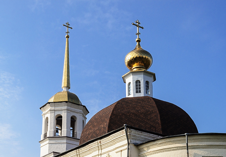 onega: Cupola of Trinity Cathedral in Onega, Arkhangelsk region, Russia