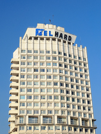 Top of BelHard building in Minsk, Belarus