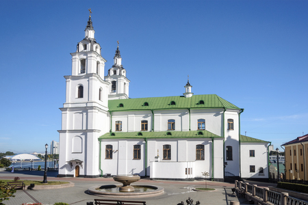 Side view of Cathedral of the Descent of the Holy Spirit in Minsk, Belarus