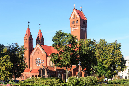 Roman catholic church of St.Simon and St.Helena in Minsk, Belarus