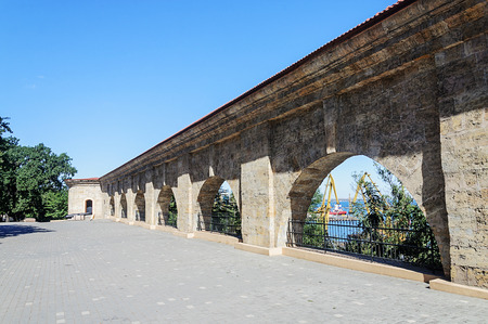 Old fortress wall in Shevchenko park, Odessa, Ukraine