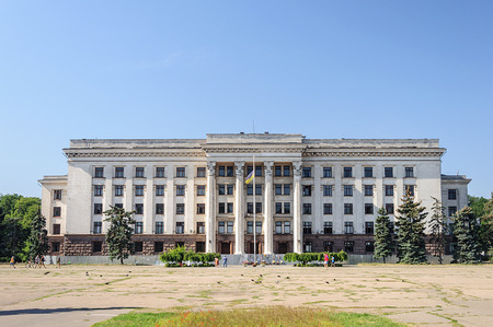 Trade Unions House on Kulikovo Field in Odessa, Ukraine