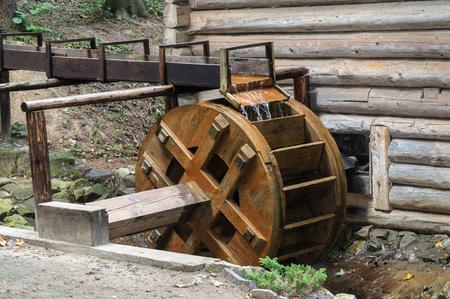 water mill: Wheel of old water mill from Ukrainian village