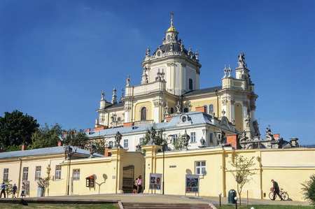 Lviv, Ukraine - September 08, 2016: St. Georges Cathedral in Lviv (Lvov). Built in 1744-1762