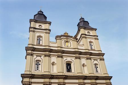 Ivano-Frankivsk, Ukraine - February 02, 2017: Greek Catholic Cathedral of the Holy Resurrection of Christ (The Jesuit Church, 1754-1763)