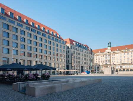 Dresden, Germany - July 26, 2019: Building of Dresdner Bank in Dresden Editorial