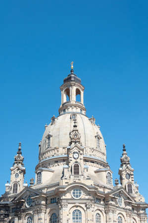 Cupola of Church of Our Lady (Frauenkirche) in Dresden, Germany