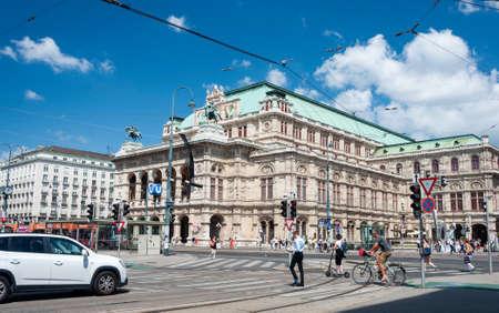 Vienna, Austria - August 01, 2019: Vienna State Opera House (Wiener Staatsoper), former Vienna Court Opera, opened in 1869