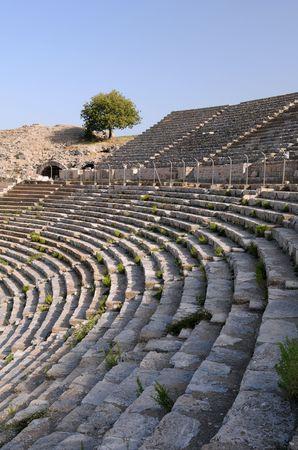 teatro antiguo: Filas del antiguo teatro en �feso, Turqu�a